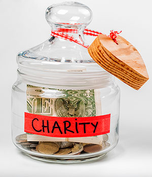 Charity savings-jar